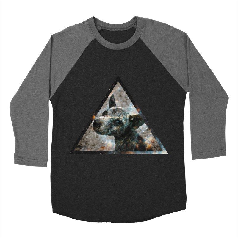 Galactic Dog Men's Baseball Triblend T-Shirt by radesigns's Artist Shop
