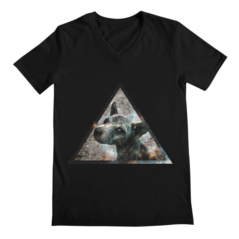 Galactic Dog Men's V-Neck by radesigns's Artist Shop