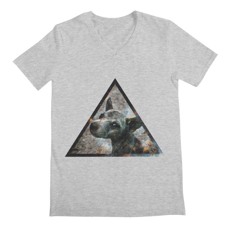 Galactic Dog Men's V-Neck by radesigns's Artist Shop