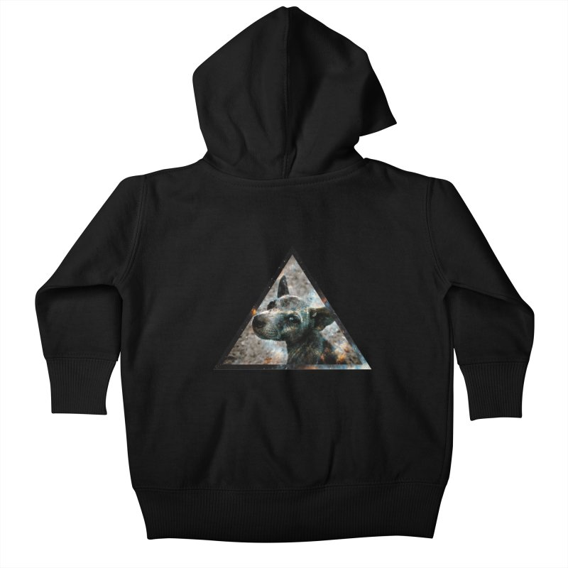 Galactic Dog Kids Baby Zip-Up Hoody by radesigns's Artist Shop