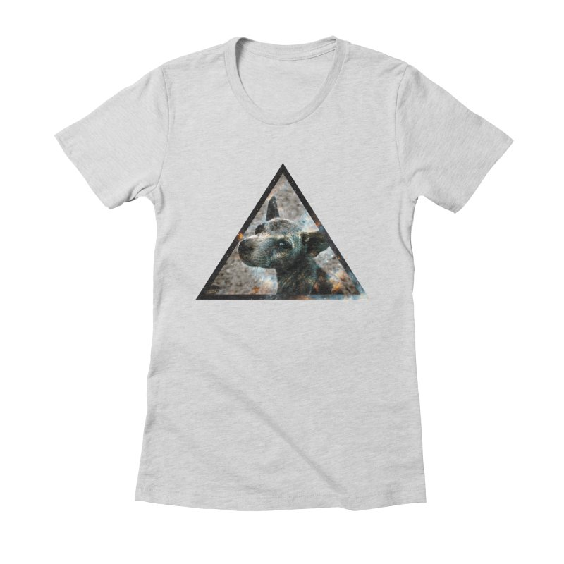 Galactic Dog Women's Fitted T-Shirt by radesigns's Artist Shop