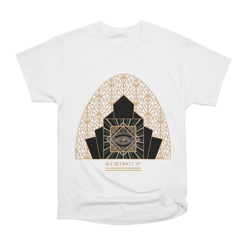 All Seeing-Eye - Art Deco Women's Heavyweight Unisex T-Shirt by radesigns's Artist Shop