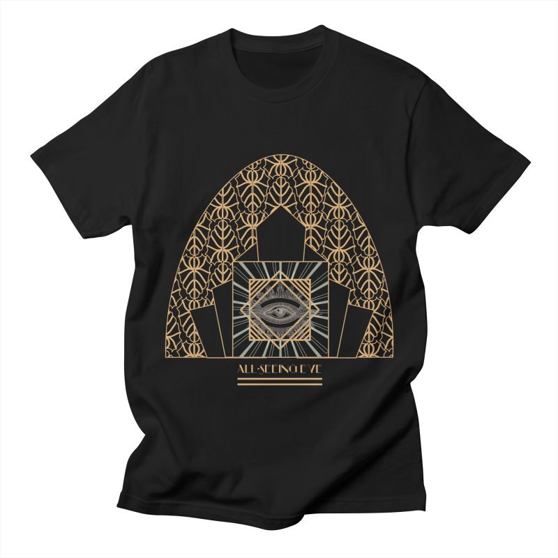 All Seeing-Eye - Art Deco Women's Regular Unisex T-Shirt by radesigns's Artist Shop