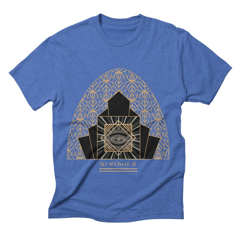 All Seeing-Eye - Art Deco Men's Triblend T-Shirt by radesigns's Artist Shop