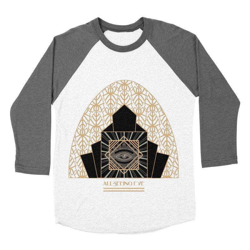 All Seeing-Eye - Art Deco Men's Baseball Triblend T-Shirt by radesigns's Artist Shop
