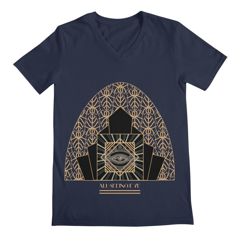 All Seeing-Eye - Art Deco Men's V-Neck by radesigns's Artist Shop