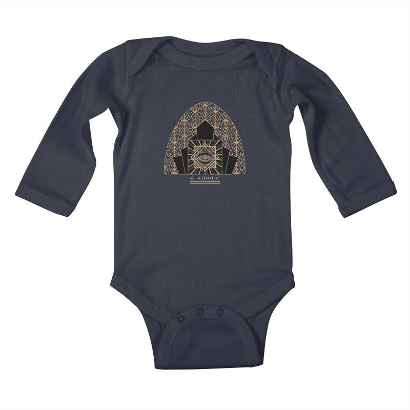 All Seeing-Eye - Art Deco Kids Baby Longsleeve Bodysuit by radesigns's Artist Shop