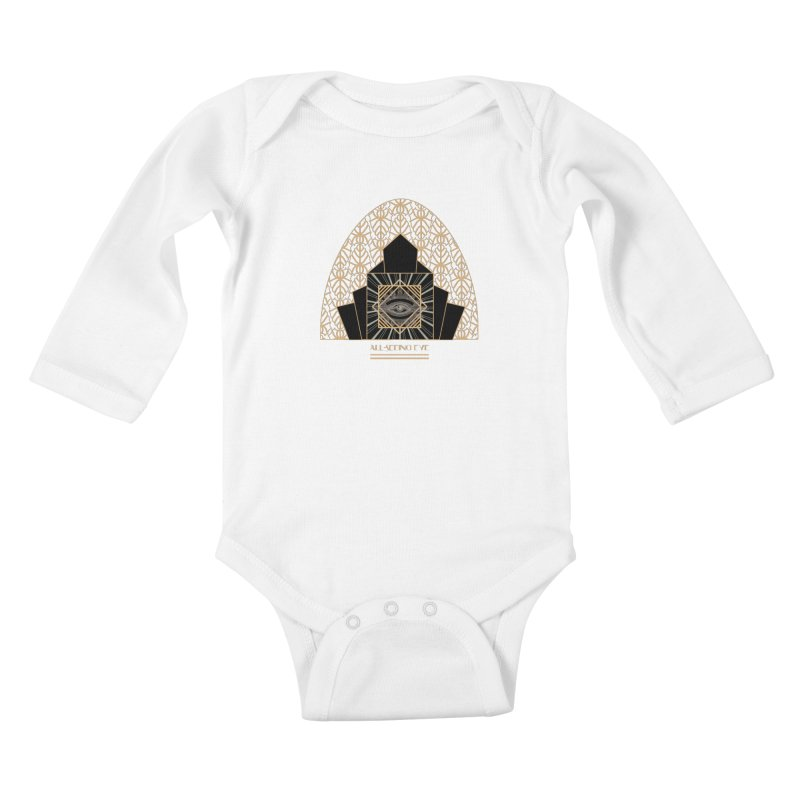 All Seeing-Eye - Art Deco Kids Baby Longsleeve Bodysuit by radesigns's Artist Shop