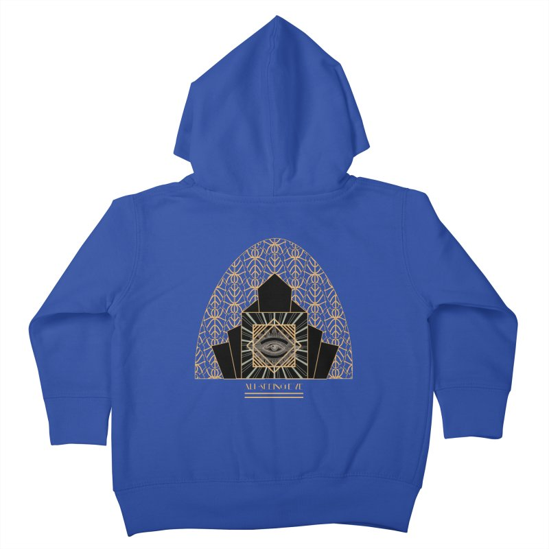 All Seeing-Eye - Art Deco Kids Toddler Zip-Up Hoody by radesigns's Artist Shop