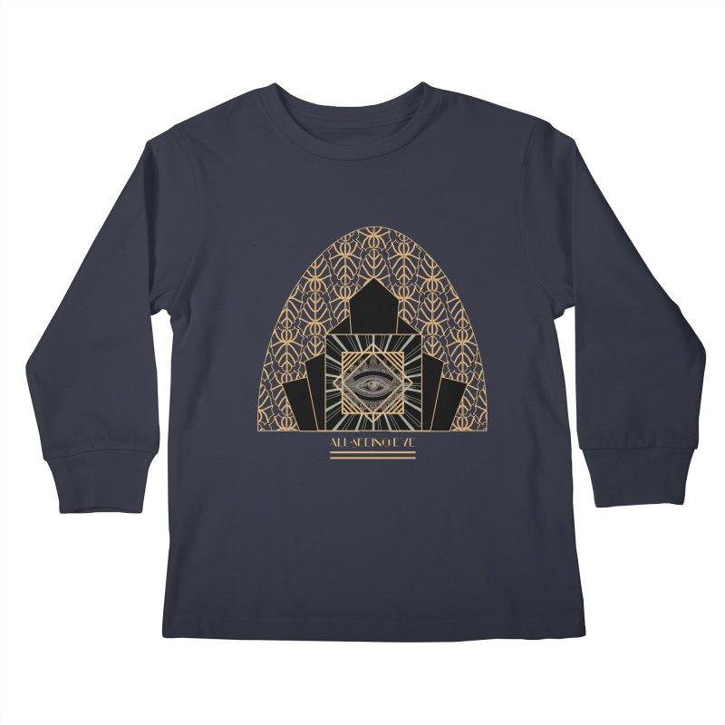All Seeing-Eye - Art Deco Kids Longsleeve T-Shirt by radesigns's Artist Shop