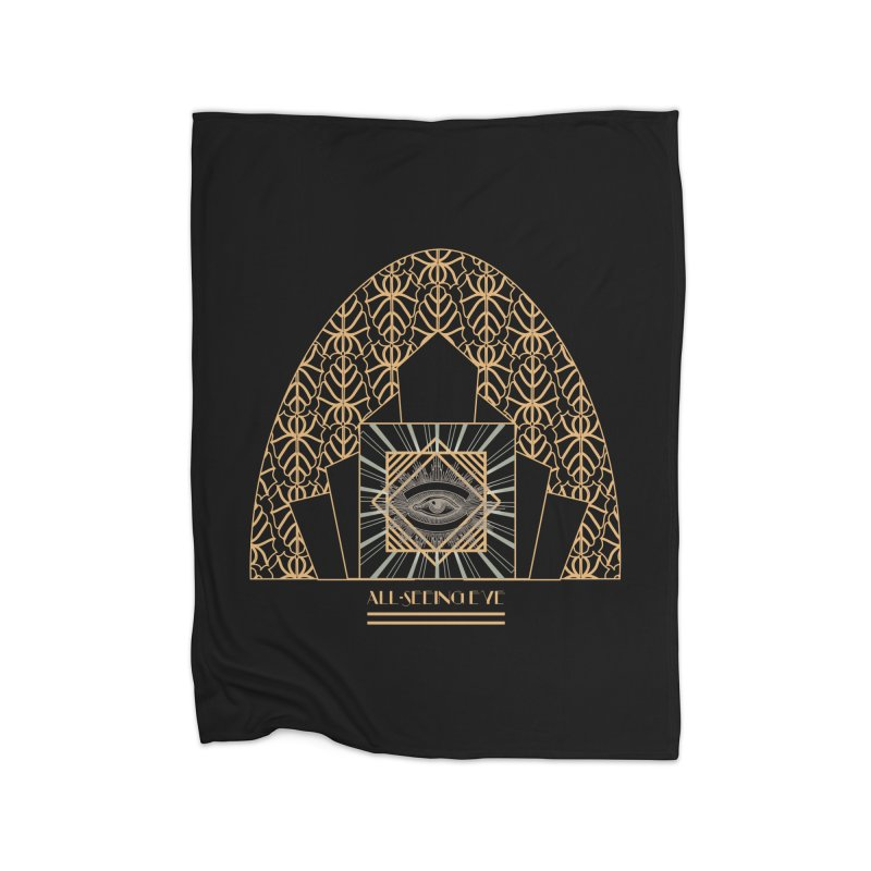 All Seeing-Eye - Art Deco Home Blanket by radesigns's Artist Shop