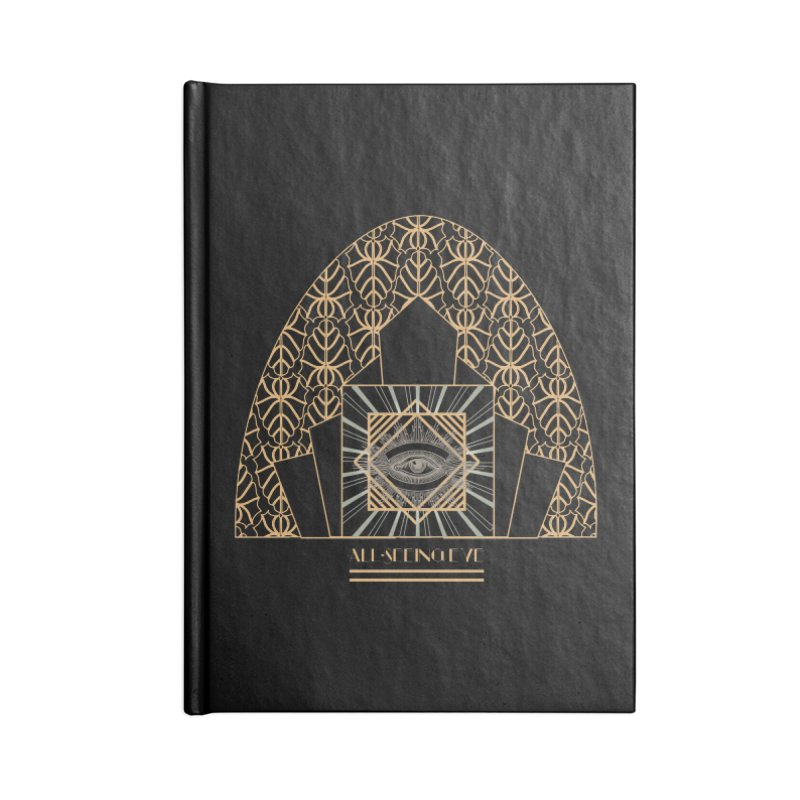 All Seeing-Eye - Art Deco Accessories Notebook by radesigns's Artist Shop