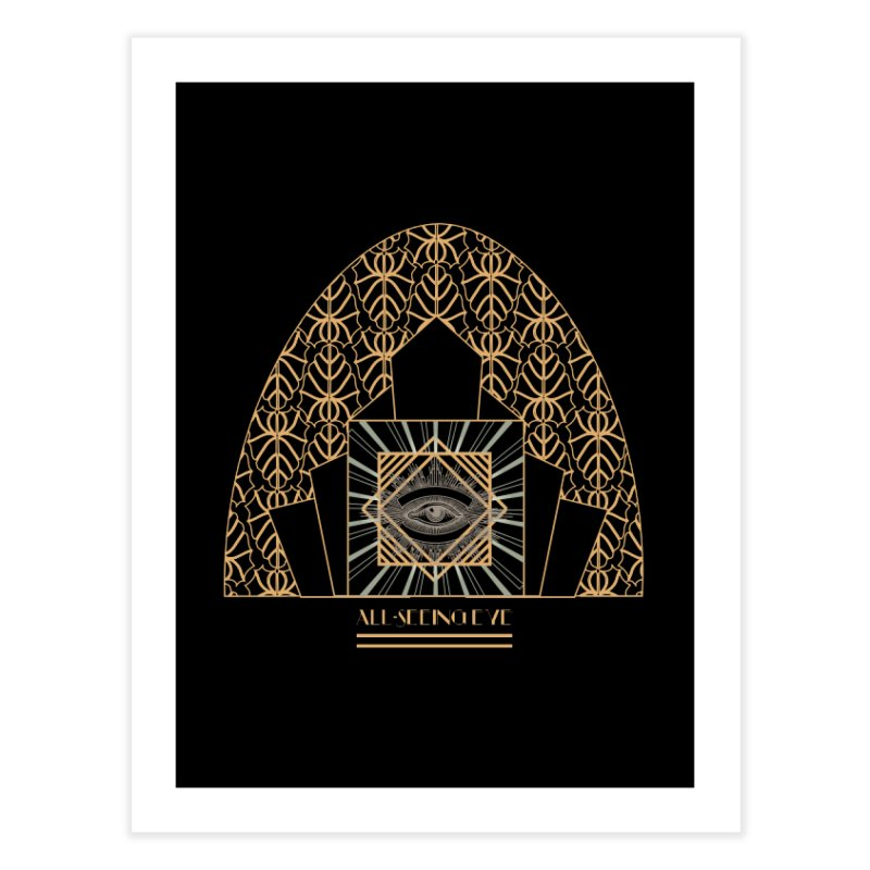 All Seeing-Eye - Art Deco Home Fine Art Print by radesigns's Artist Shop