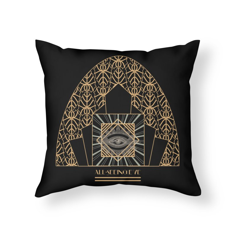 All Seeing-Eye - Art Deco Home Throw Pillow by radesigns's Artist Shop