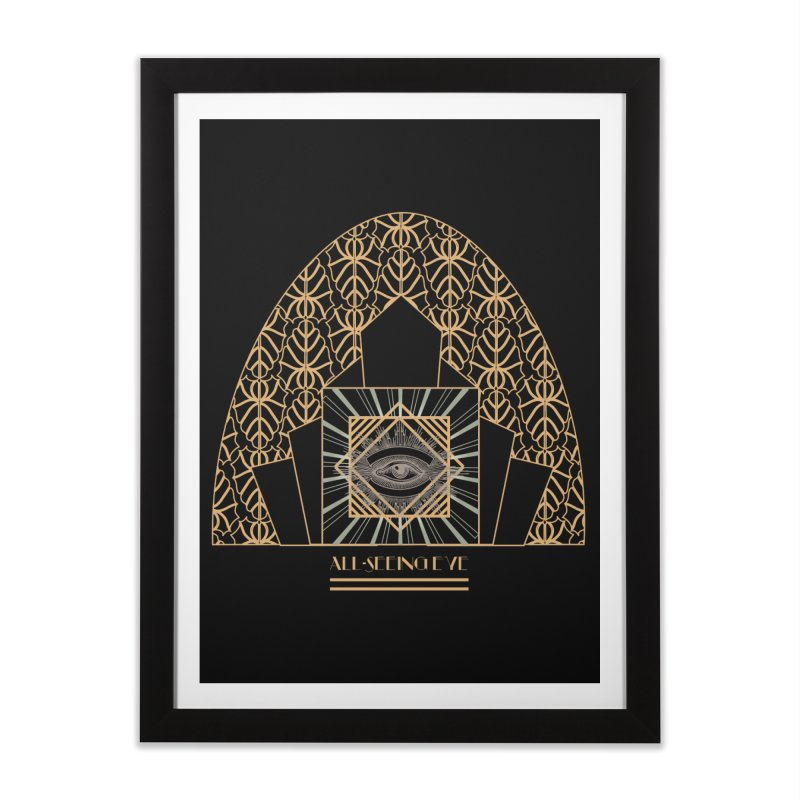 All Seeing-Eye - Art Deco Home Framed Fine Art Print by radesigns's Artist Shop