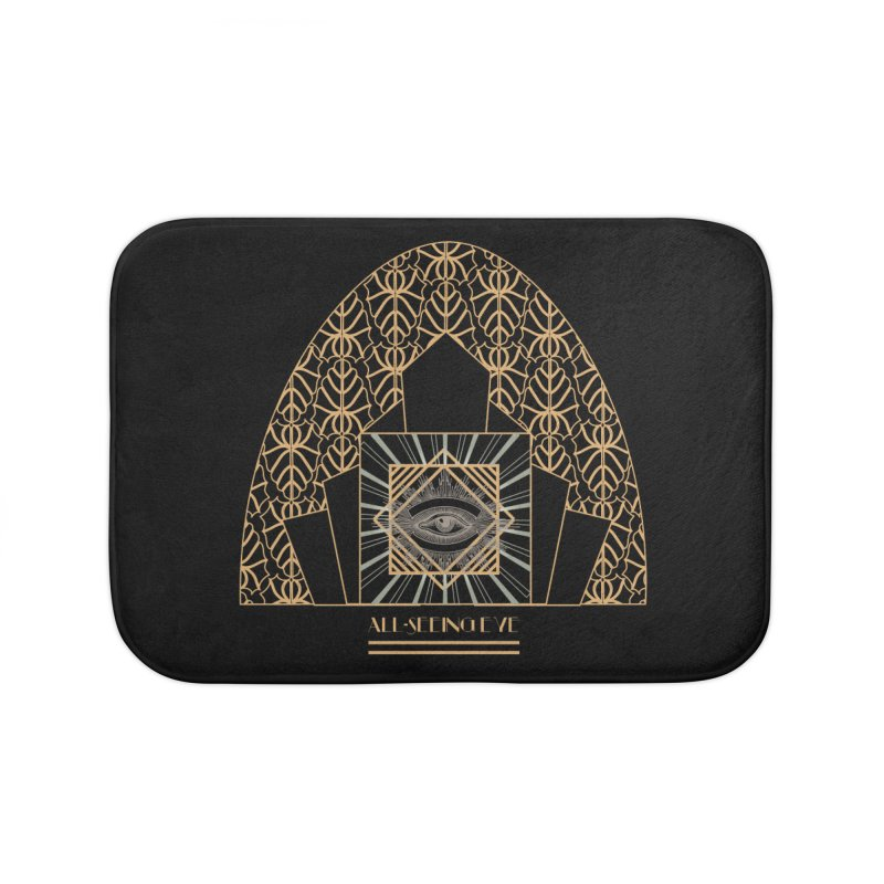All Seeing-Eye - Art Deco Home Bath Mat by radesigns's Artist Shop