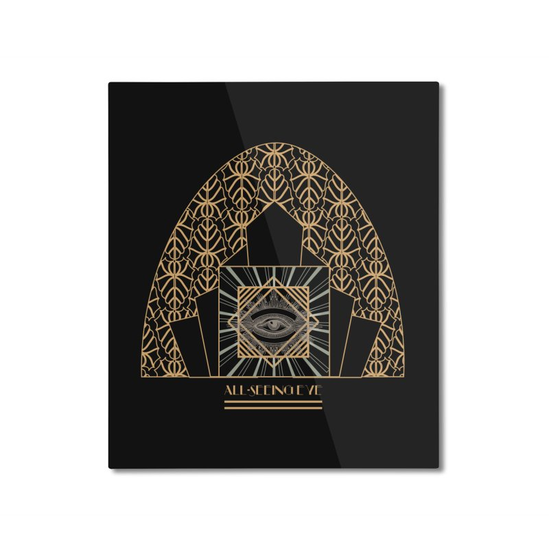 All Seeing-Eye - Art Deco Home Mounted Aluminum Print by radesigns's Artist Shop