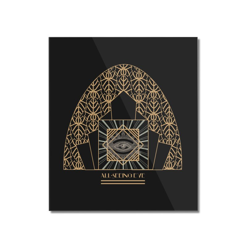 All Seeing-Eye - Art Deco Home Mounted Acrylic Print by radesigns's Artist Shop