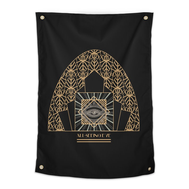 All Seeing-Eye - Art Deco Home Tapestry by radesigns's Artist Shop