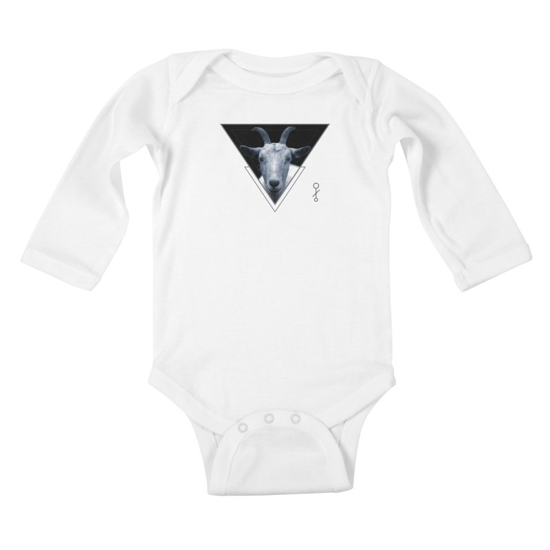 Triangle Goat Sigil Kids Baby Longsleeve Bodysuit by radesigns's Artist Shop