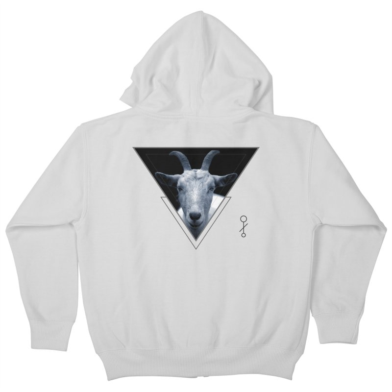 Triangle Goat Sigil Kids Zip-Up Hoody by radesigns's Artist Shop
