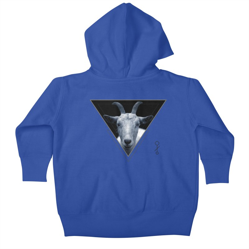 Triangle Goat Sigil Kids Baby Zip-Up Hoody by radesigns's Artist Shop