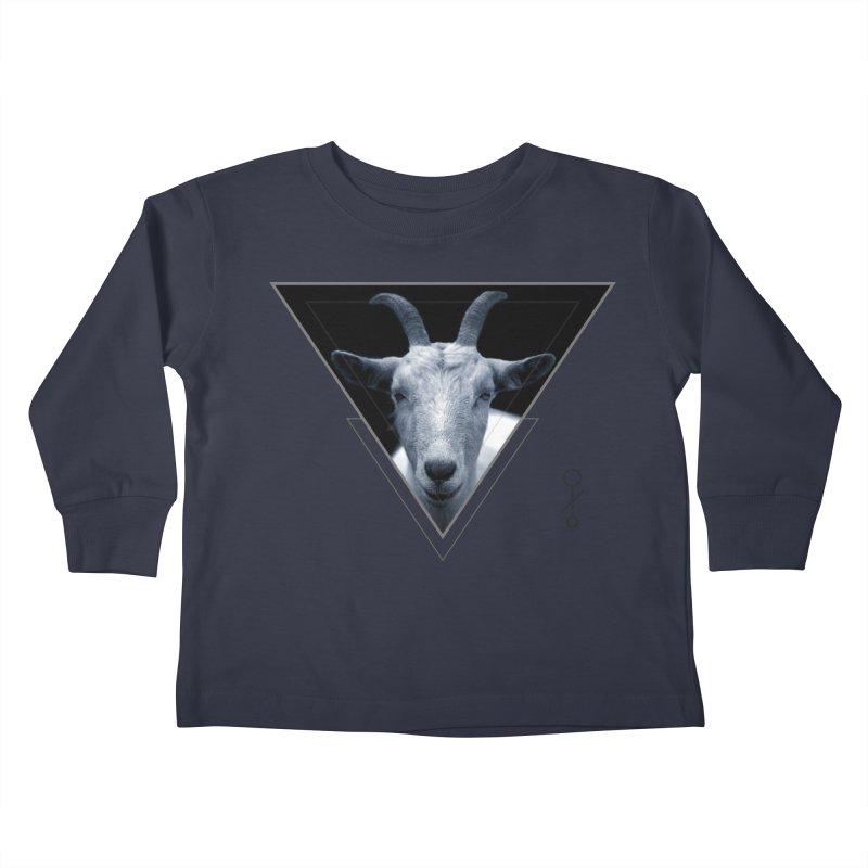 Triangle Goat Sigil Kids Toddler Longsleeve T-Shirt by radesigns's Artist Shop