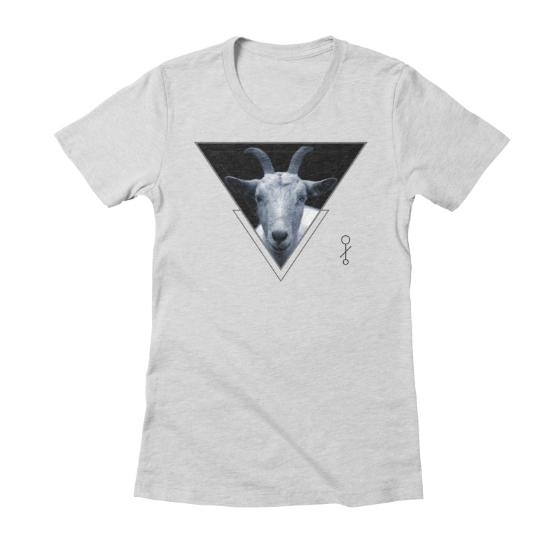 Triangle Goat Sigil Women's Fitted T-Shirt by radesigns's Artist Shop