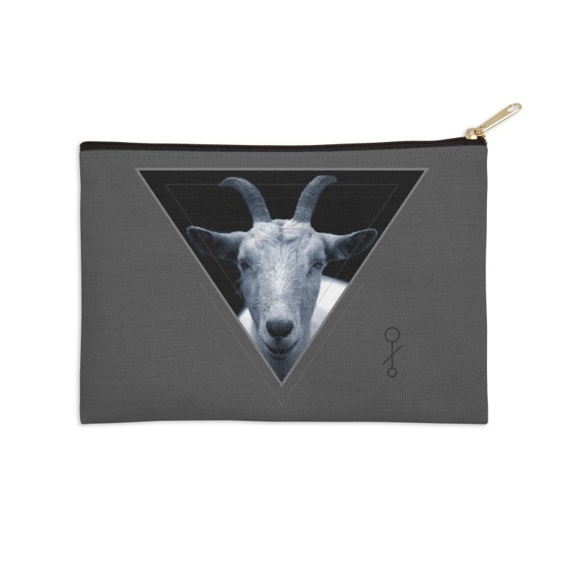 Triangle Goat Sigil Accessories Zip Pouch by radesigns's Artist Shop