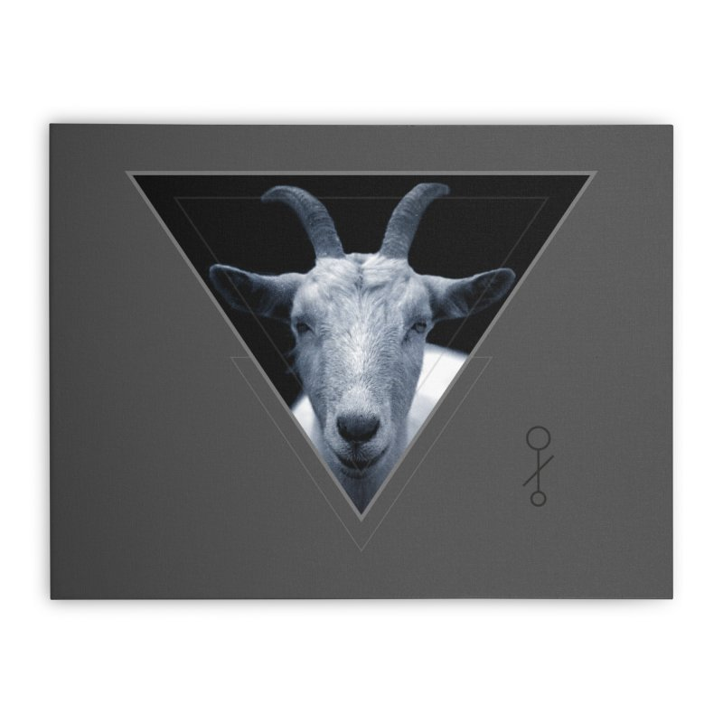 Triangle Goat Sigil Home Stretched Canvas by radesigns's Artist Shop