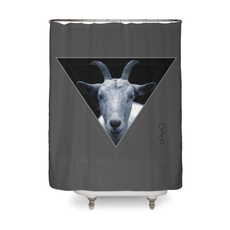 Triangle Goat Sigil Home Shower Curtain by radesigns's Artist Shop