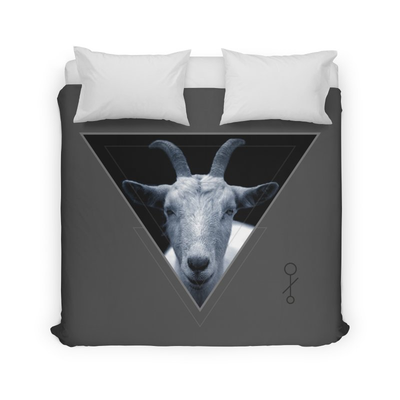 Triangle Goat Sigil Home Duvet by radesigns's Artist Shop