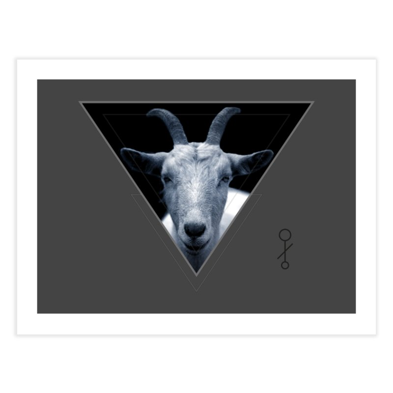 Triangle Goat Sigil Home Fine Art Print by radesigns's Artist Shop