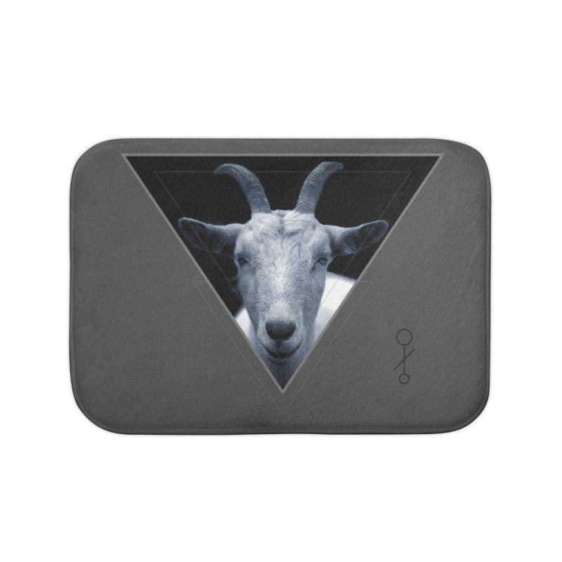 Triangle Goat Sigil Home Bath Mat by radesigns's Artist Shop