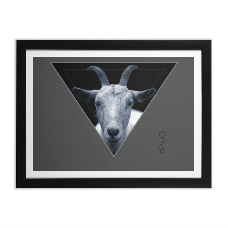 Triangle Goat Sigil Home Framed Fine Art Print by radesigns's Artist Shop