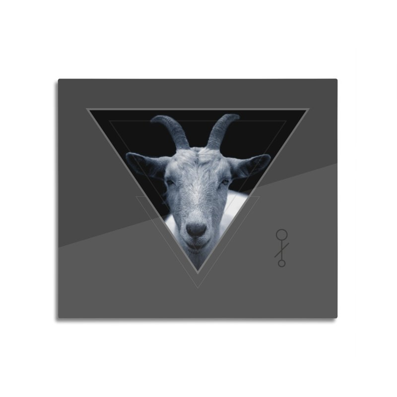 Triangle Goat Sigil Home Mounted Aluminum Print by radesigns's Artist Shop