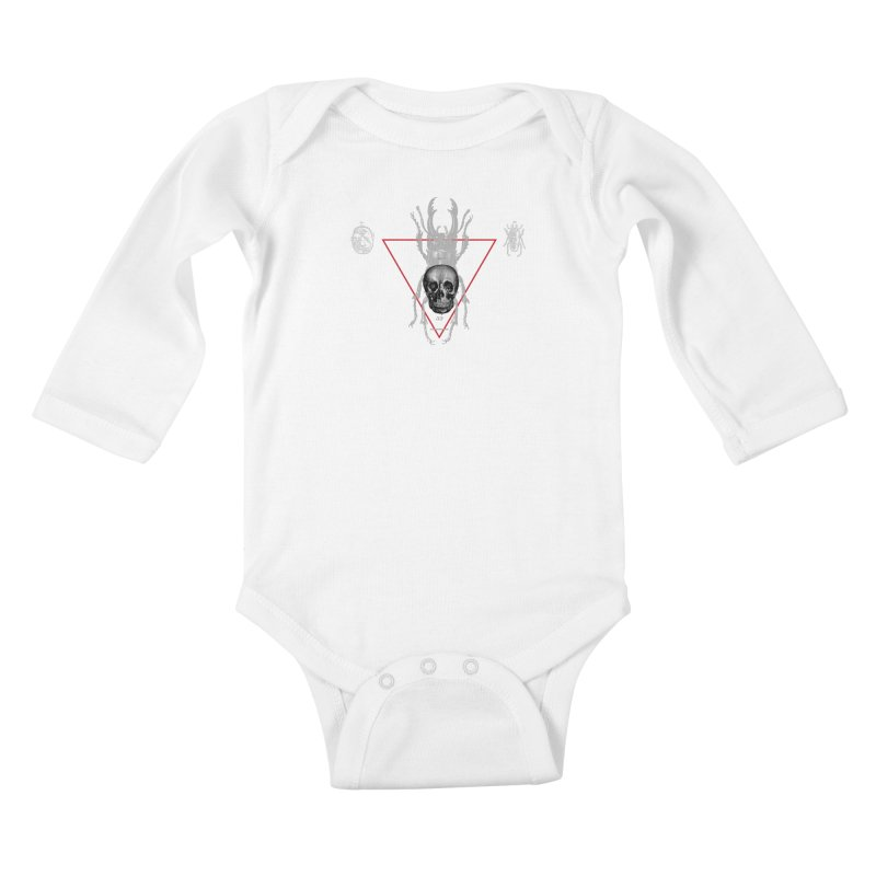 Death Scarab Kids Baby Longsleeve Bodysuit by radesigns's Artist Shop
