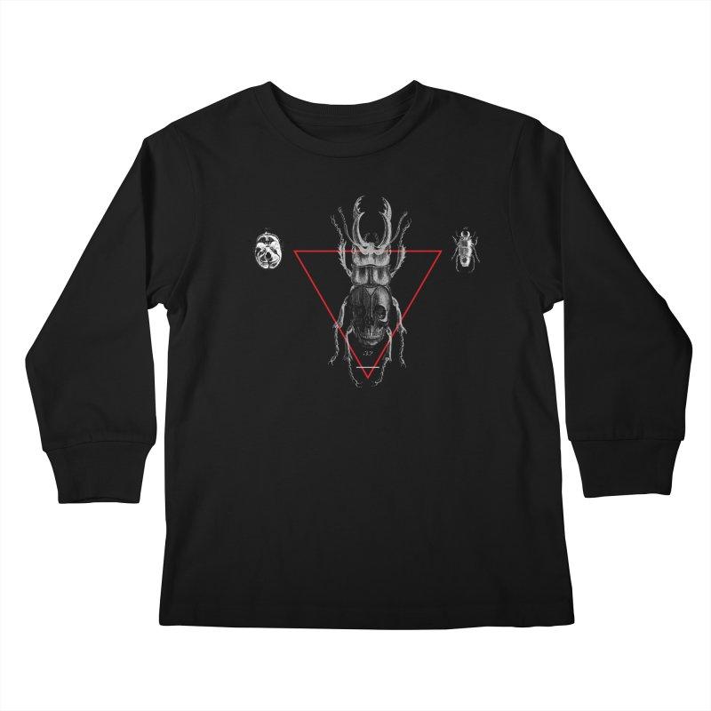 Death Scarab Kids Longsleeve T-Shirt by radesigns's Artist Shop