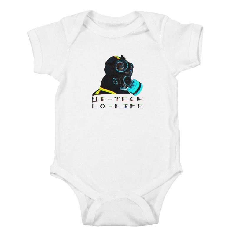 Hi - Tech, Lo - Life Kids Baby Bodysuit by radesigns's Artist Shop