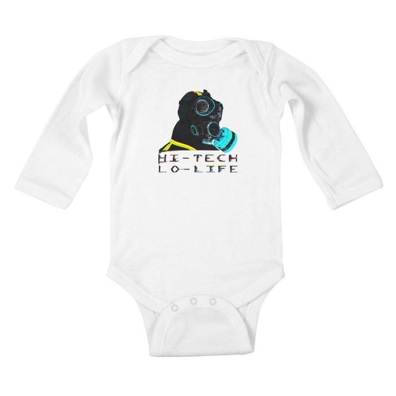 Hi - Tech, Lo - Life Kids Baby Longsleeve Bodysuit by radesigns's Artist Shop