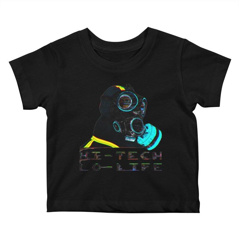 Hi - Tech, Lo - Life Kids Baby T-Shirt by radesigns's Artist Shop
