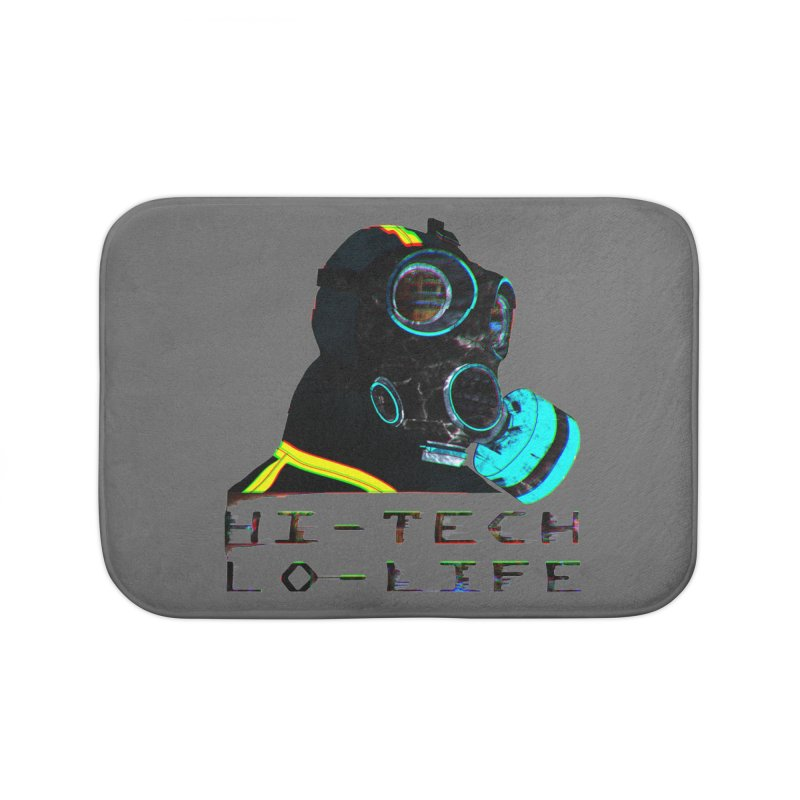 Hi - Tech, Lo - Life Home Bath Mat by radesigns's Artist Shop