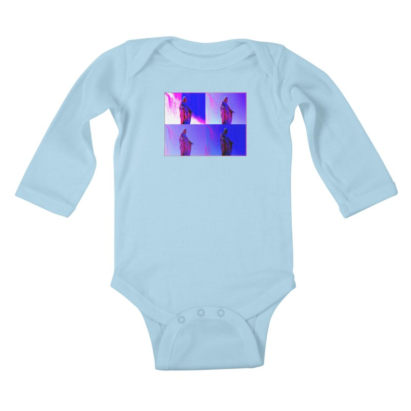 Virgen Kids Baby Longsleeve Bodysuit by radesigns's Artist Shop
