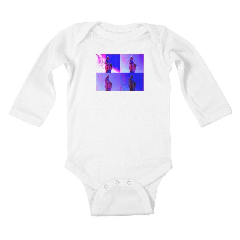 Virgen Kids Baby Longsleeve Bodysuit by radesigns's Artist Shop