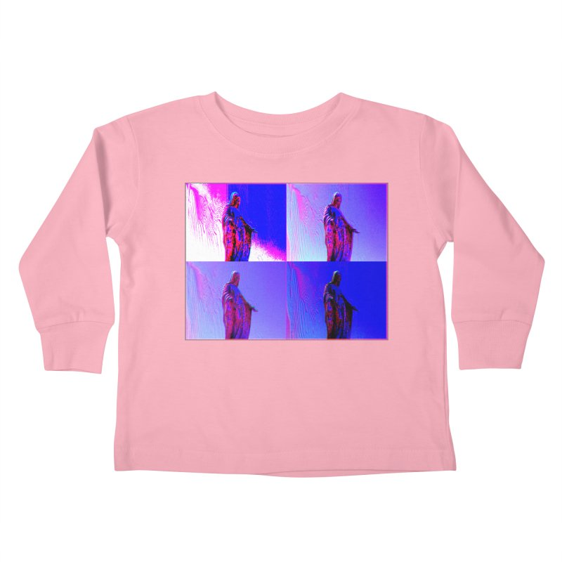 Virgen Kids Toddler Longsleeve T-Shirt by radesigns's Artist Shop
