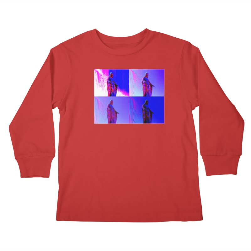 Virgen Kids Longsleeve T-Shirt by radesigns's Artist Shop