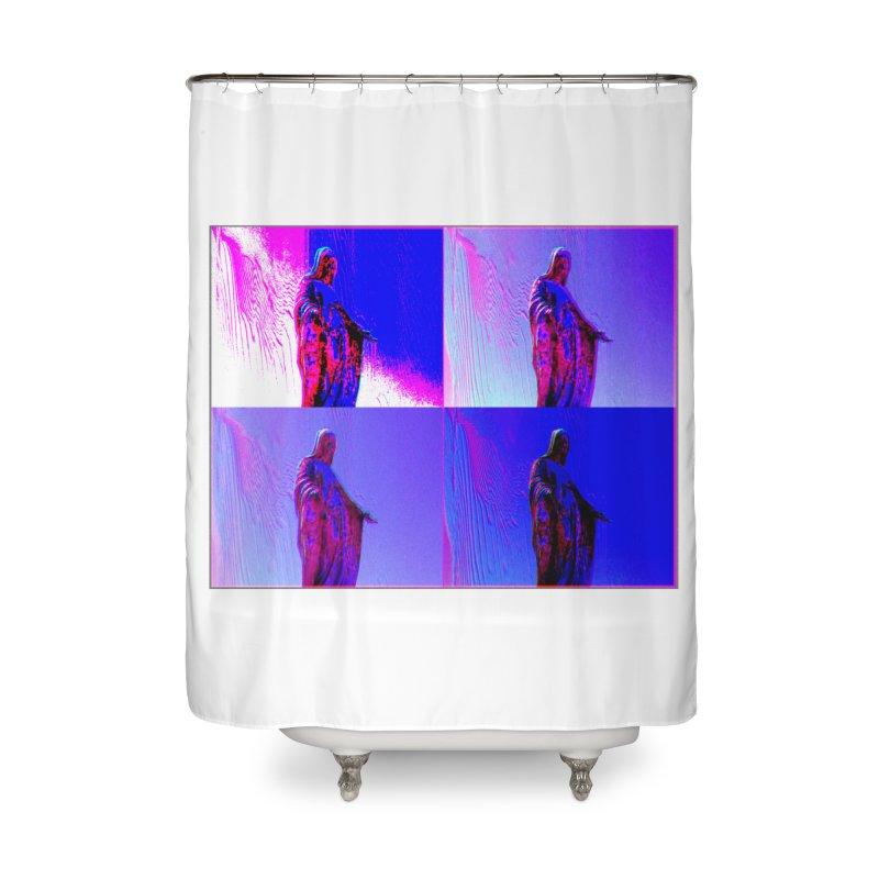 Virgen Home Shower Curtain by radesigns's Artist Shop