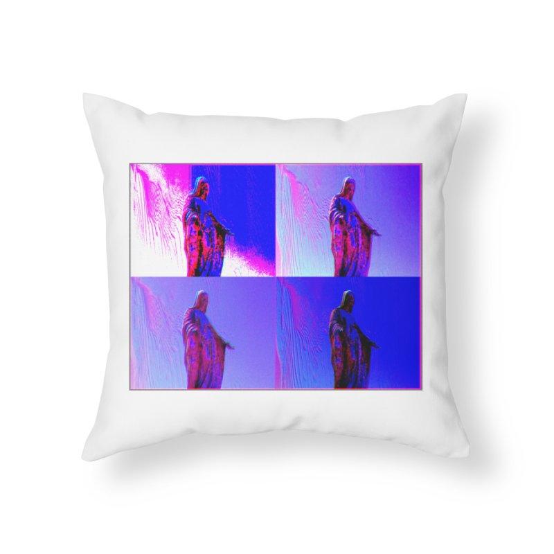 Virgen Home Throw Pillow by radesigns's Artist Shop