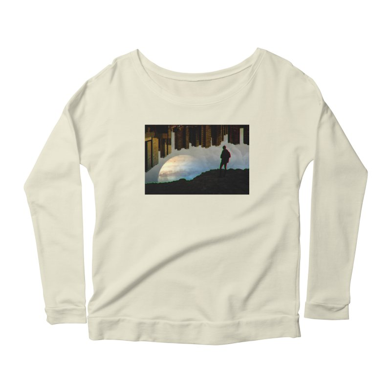 Nice View Women's Longsleeve Scoopneck  by radesigns's Artist Shop