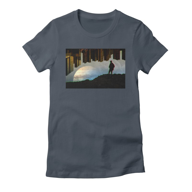 Nice View Women's Fitted T-Shirt by radesigns's Artist Shop